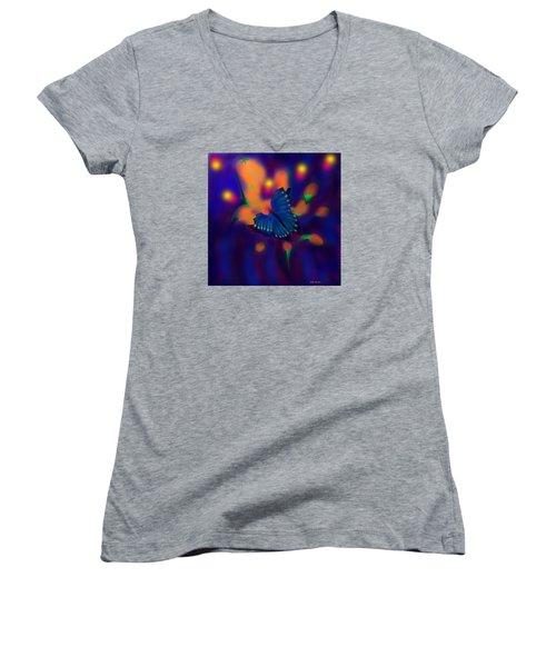 Metamorphosis Women's V-Neck T-Shirt (Junior Cut) by Latha Gokuldas Panicker