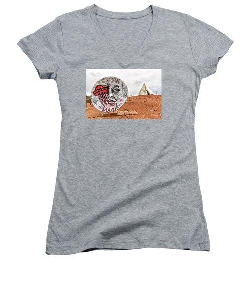 Meteor City Trading Post 11 Women's V-Neck T-Shirt