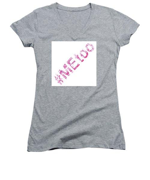 #metoo Me Too Movement Original Prints Fine Art Women's V-Neck (Athletic Fit)