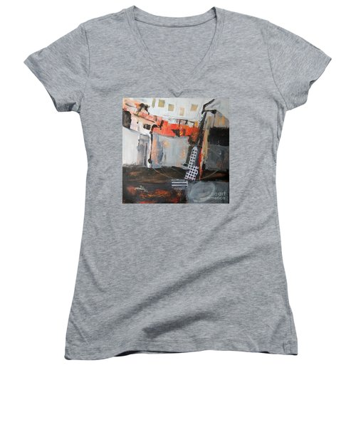 Metro Abstract Women's V-Neck (Athletic Fit)