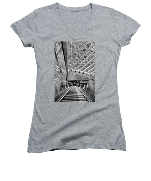 Metro Line 4 Structures, Budapest 3 Women's V-Neck (Athletic Fit)