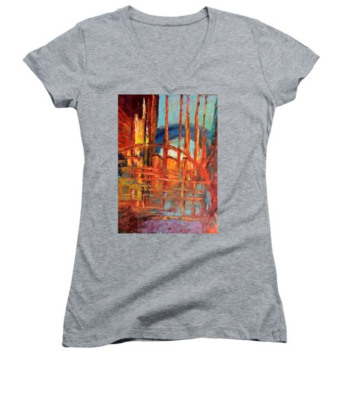 Metropolis In Space Women's V-Neck T-Shirt
