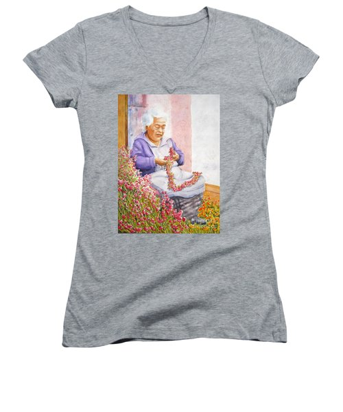 Mexican Flower Women's V-Neck T-Shirt