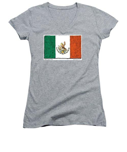 Mexico Flips Bird Women's V-Neck
