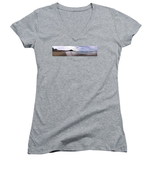 Women's V-Neck T-Shirt (Junior Cut) featuring the photograph Mexico Memories 7 by Victor K