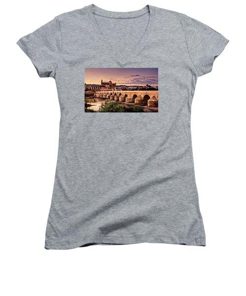 Mezquita In The Evening Women's V-Neck T-Shirt