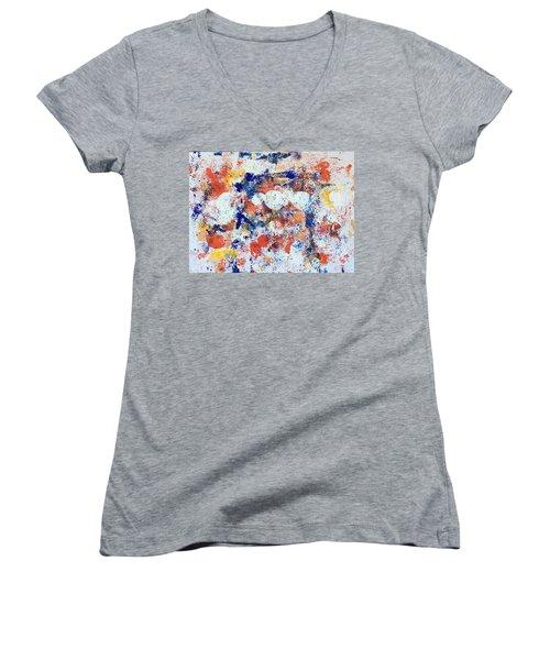 Michigan No 1 Women's V-Neck T-Shirt