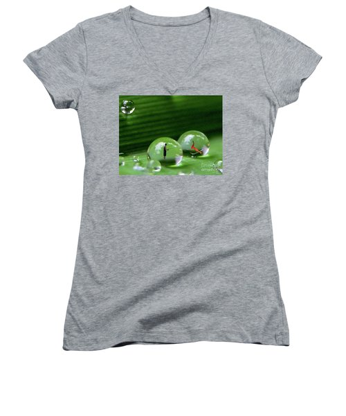Microcosms Women's V-Neck T-Shirt