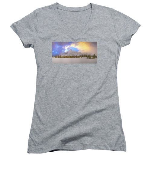 Mid-winter Sunset Women's V-Neck (Athletic Fit)