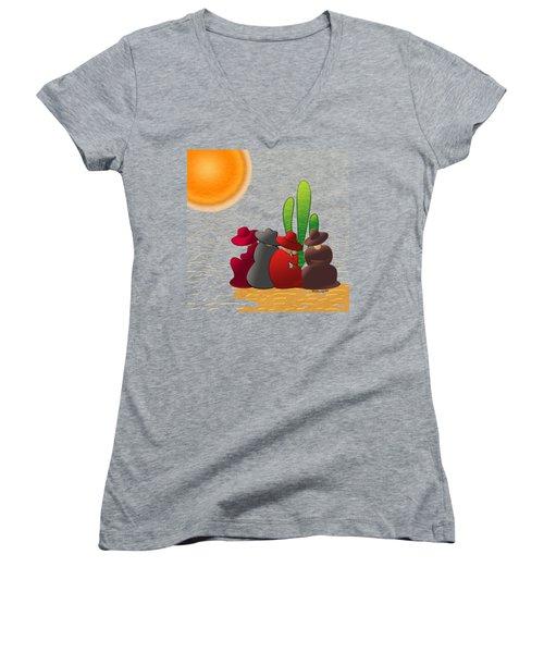Midday Siesta Women's V-Neck T-Shirt