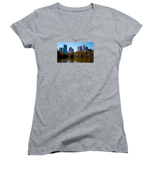 Midtown In The Fall Women's V-Neck