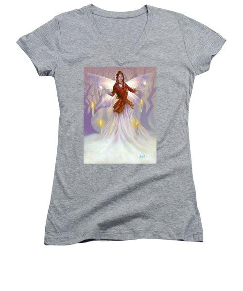 Midwinter Blessings Women's V-Neck T-Shirt