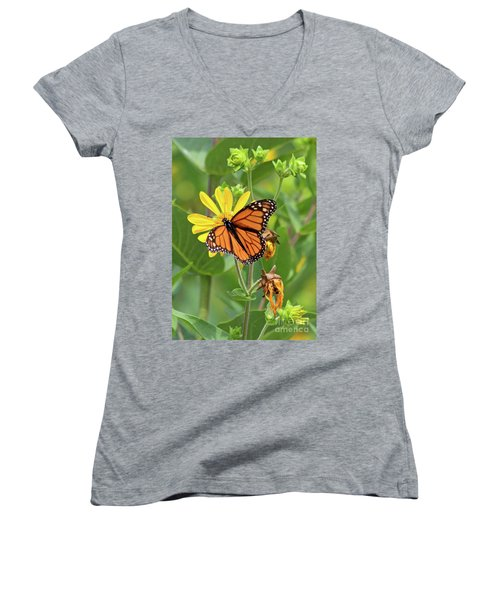 Mighty Monarch   Women's V-Neck
