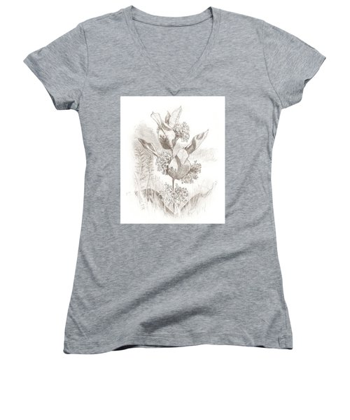 Milkweed Women's V-Neck T-Shirt