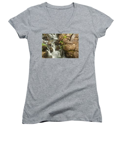 Mill Wheel With Waterfall Women's V-Neck