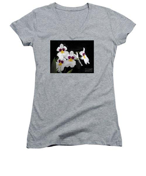 Miltonia Hybrid Orchid Women's V-Neck (Athletic Fit)