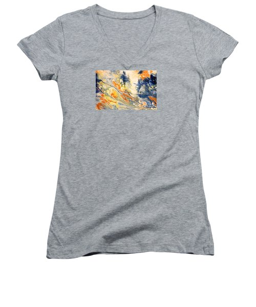 Mind Flow Women's V-Neck T-Shirt (Junior Cut) by Gallery Messina
