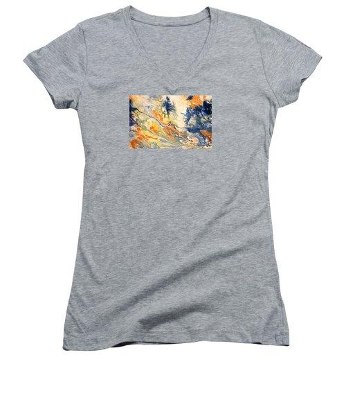 Mind Flow Women's V-Neck T-Shirt