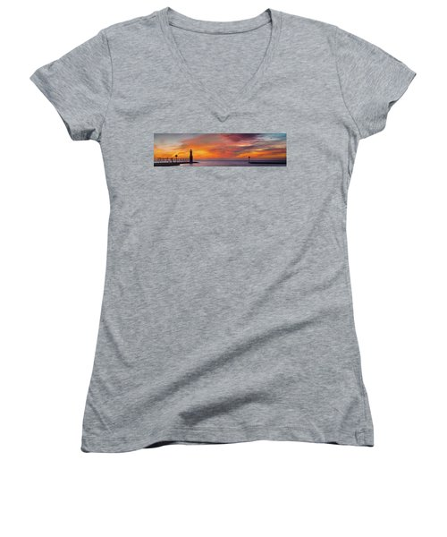 Women's V-Neck T-Shirt (Junior Cut) featuring the photograph Mine Eyes Have Seen The Glory by Bill Pevlor