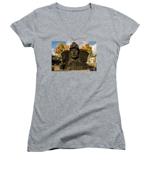 Miners In The Autumn Women's V-Neck (Athletic Fit)