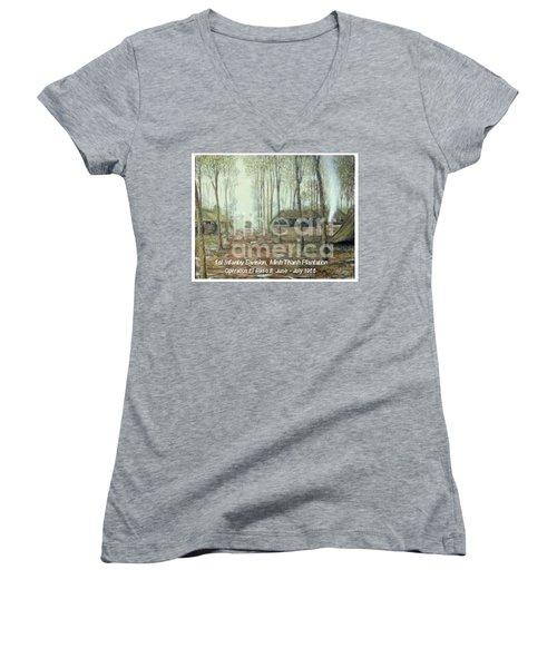 Minh Thanh Rubber Women's V-Neck T-Shirt