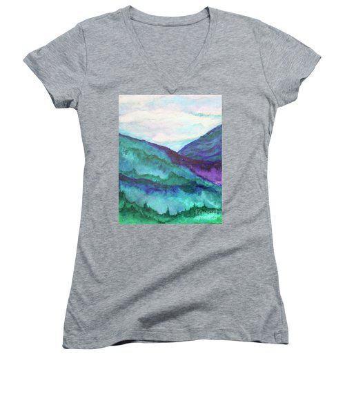 Mini Mountains Majesty Women's V-Neck