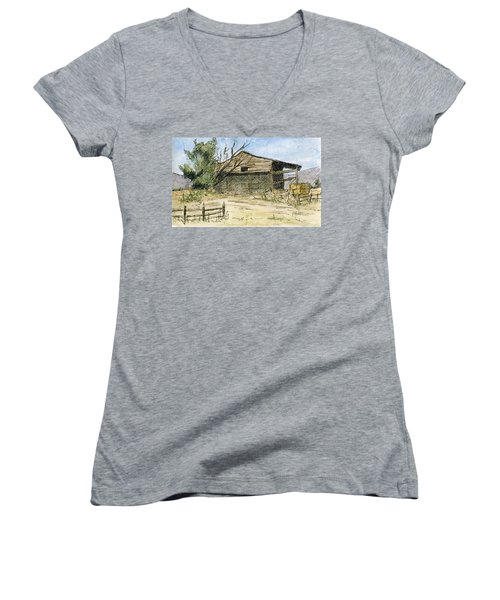 Mini No 1 Old Hay Shed Women's V-Neck (Athletic Fit)