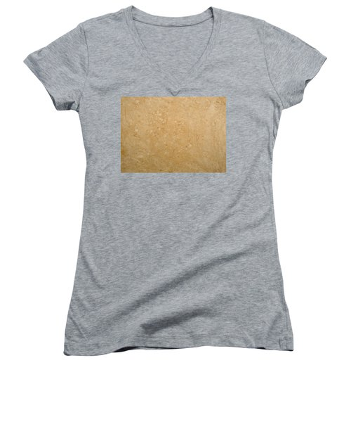 Women's V-Neck T-Shirt (Junior Cut) featuring the painting Minimal Number 5 by James W Johnson