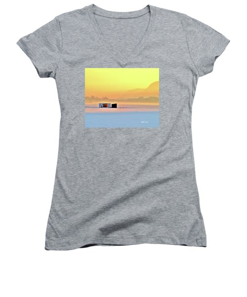 Minnesota Sunrise Women's V-Neck (Athletic Fit)