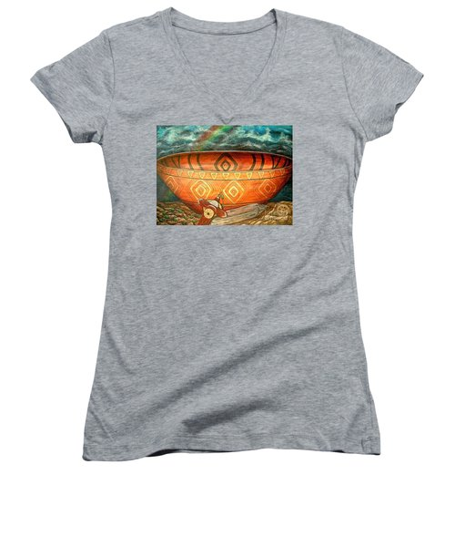 Miracles Women's V-Neck T-Shirt (Junior Cut) by Kim Jones