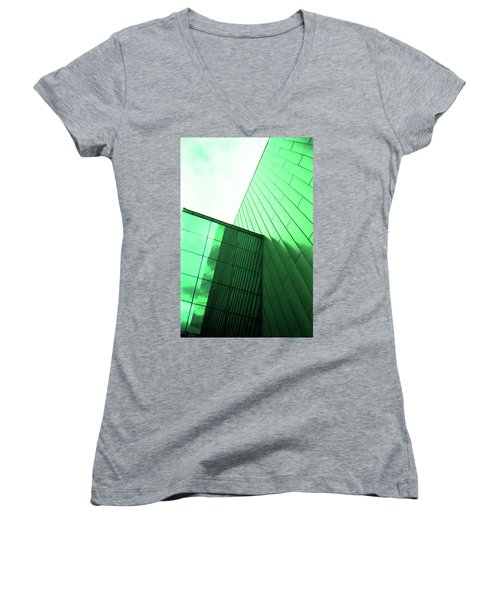 Mirror Building 2 Women's V-Neck (Athletic Fit)
