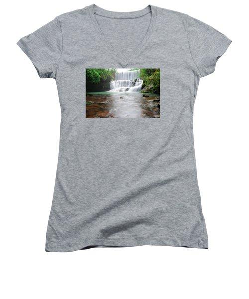 Mirror Lake Falls 2 Women's V-Neck T-Shirt