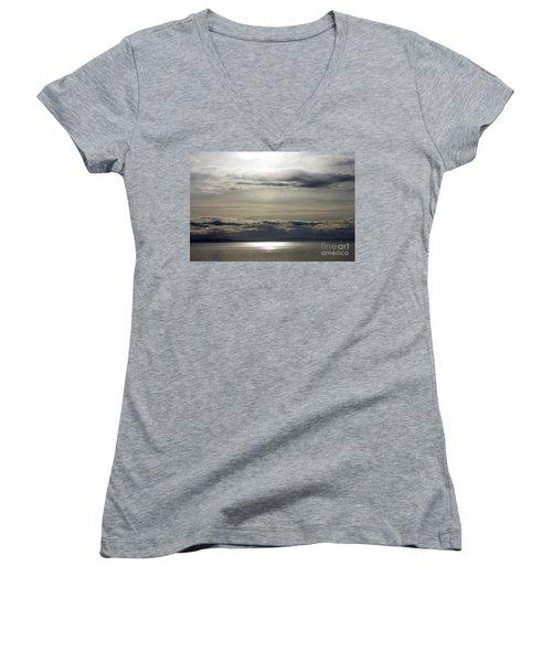 Mirror Sunset Landscape Women's V-Neck (Athletic Fit)