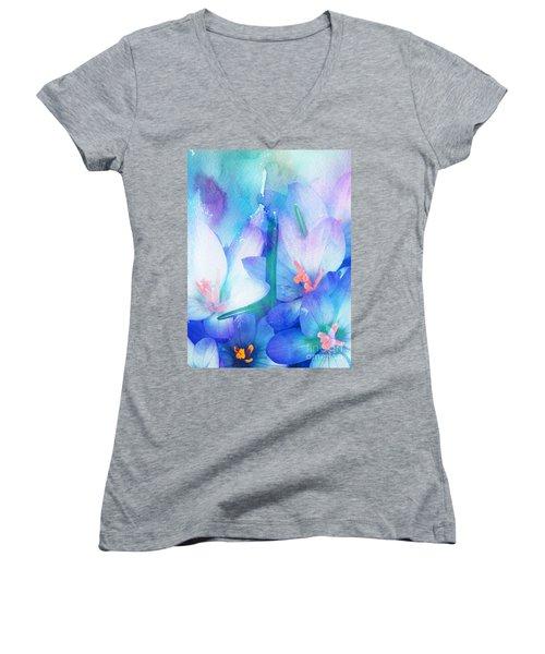 Mirthfulness Women's V-Neck T-Shirt (Junior Cut) by Klara Acel