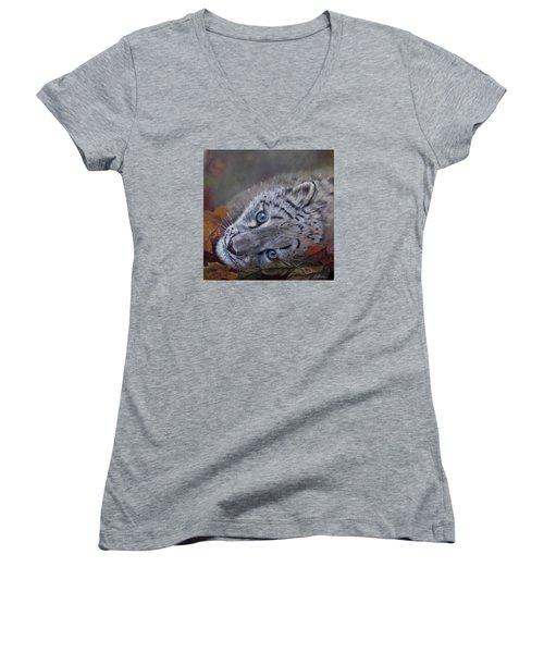 Mirucha In Fall Women's V-Neck T-Shirt