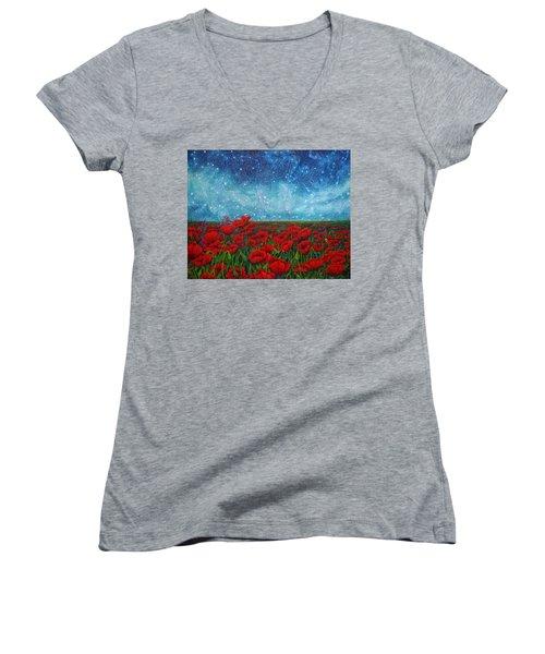 Mischling Women's V-Neck T-Shirt (Junior Cut) by Matt Konar