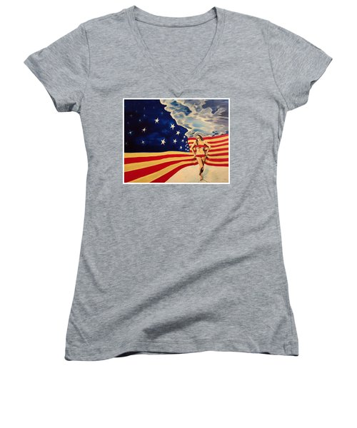Miss America? Women's V-Neck T-Shirt