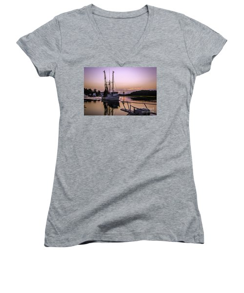 Miss Sandra Gail Women's V-Neck T-Shirt (Junior Cut) by David Smith