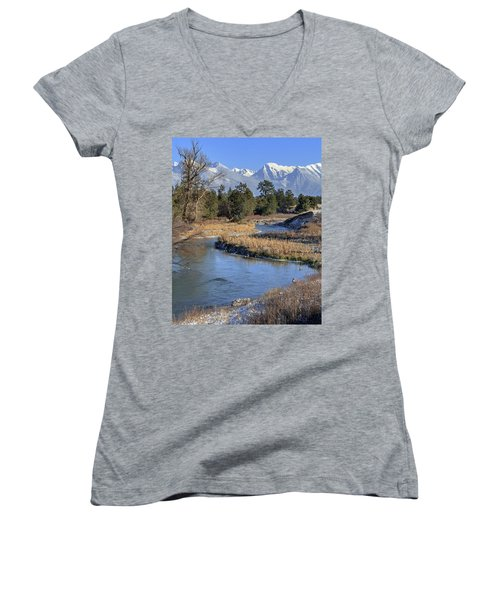 Mission Mountains Women's V-Neck T-Shirt