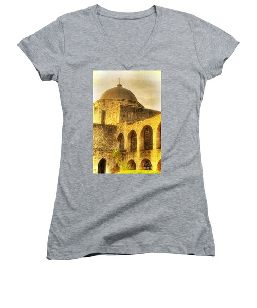 Mission San Jose San Antonio Texas Women's V-Neck (Athletic Fit)