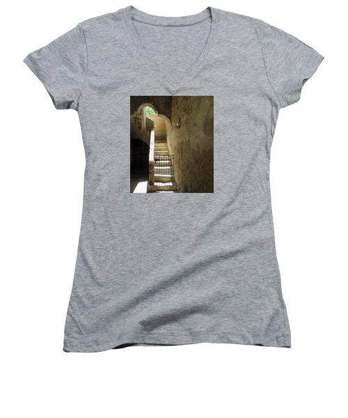 Mission Stairway  Women's V-Neck T-Shirt