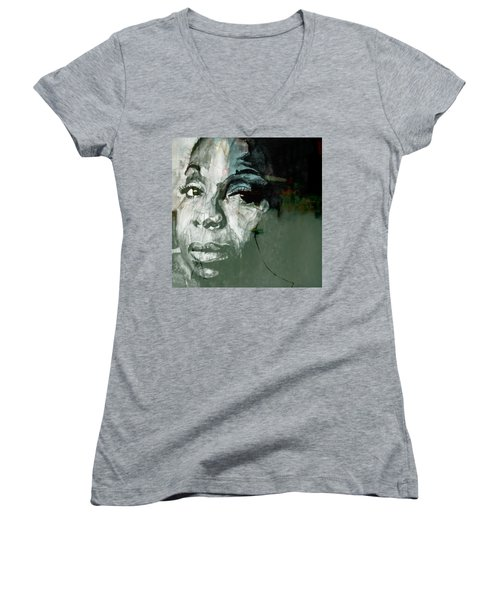 Mississippi Goddam Women's V-Neck T-Shirt (Junior Cut) by Paul Lovering
