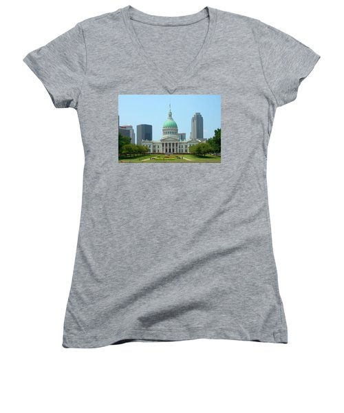 Missouri State Capitol Building Women's V-Neck (Athletic Fit)