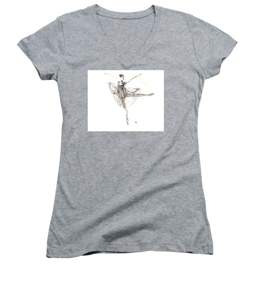 Misty Ballerina Dancer IIi Women's V-Neck (Athletic Fit)