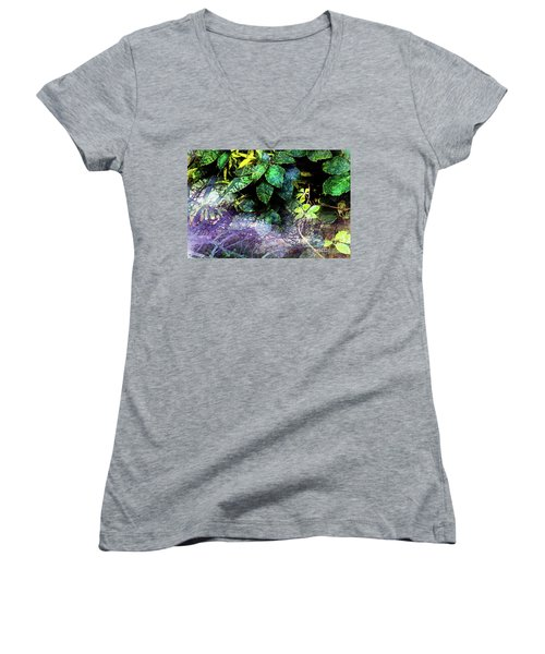 Misty Branches Women's V-Neck (Athletic Fit)