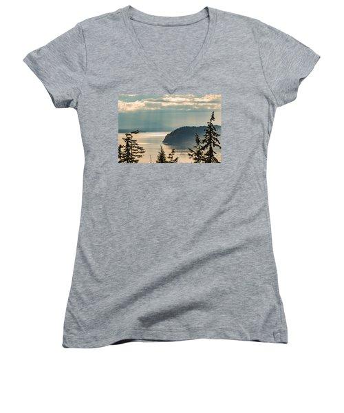 Misty Island Women's V-Neck T-Shirt