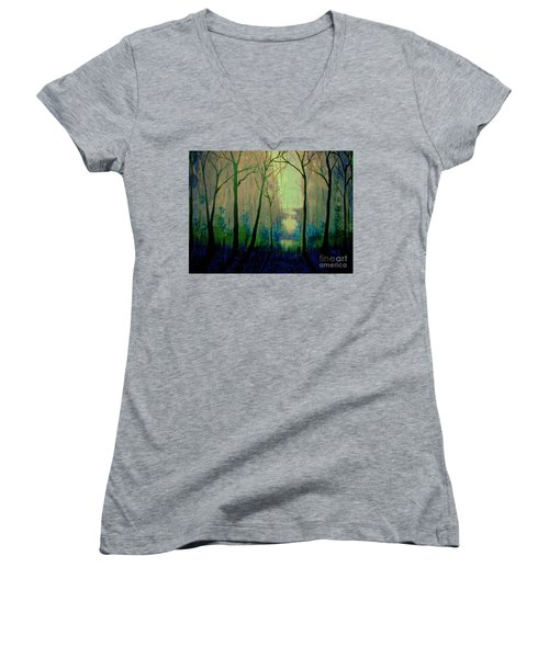 Misty Morning 2 Women's V-Neck