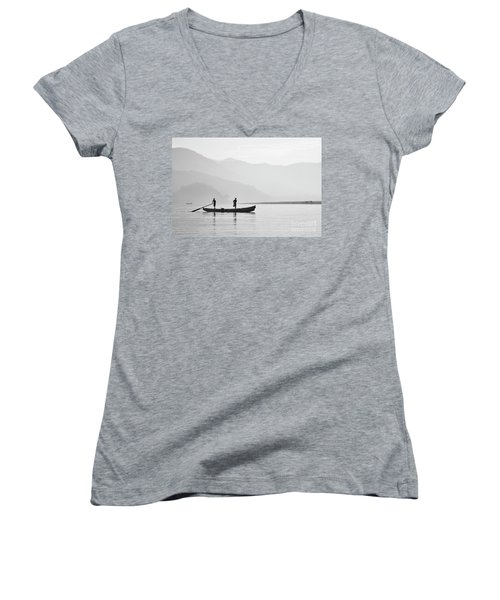 Misty Morning 3 Women's V-Neck T-Shirt