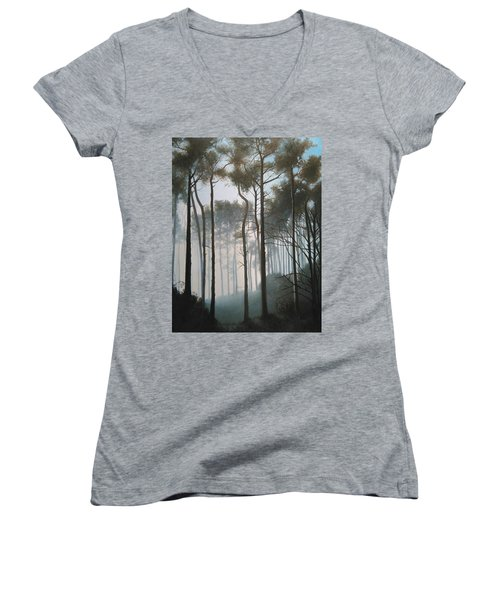Misty Morning Walk Women's V-Neck