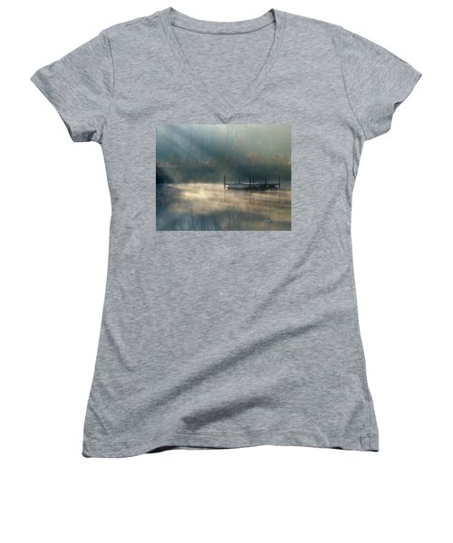 Misty Sunrise Women's V-Neck T-Shirt